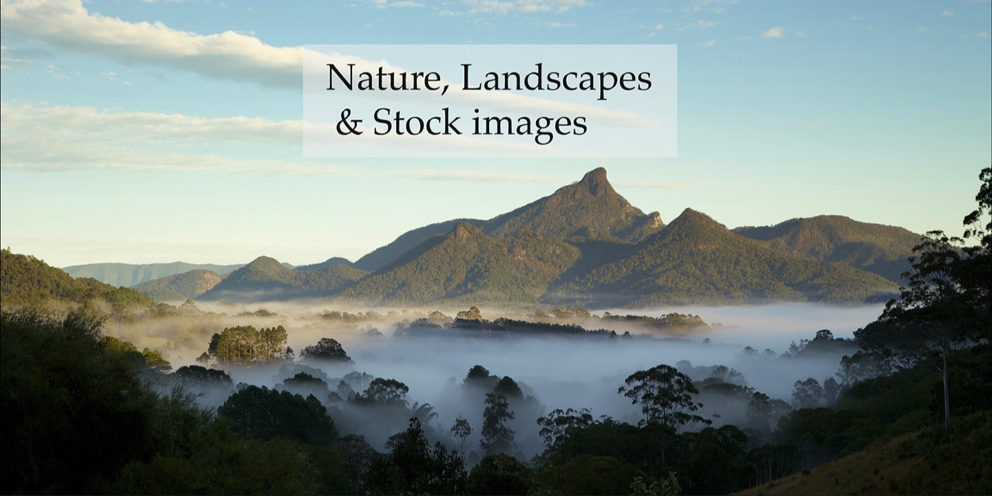 Stock photography and Mount Warning